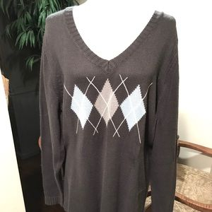 Super Cute Argyle Sweater